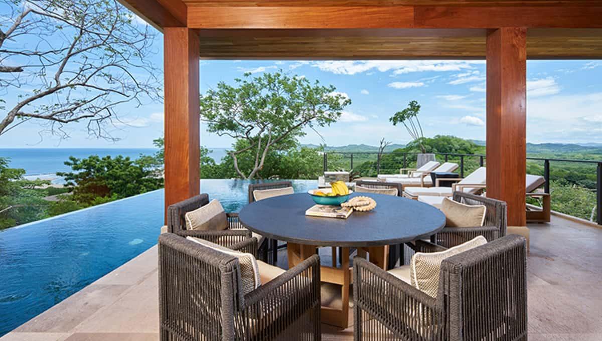 casa lucy view beach round table tamarindo