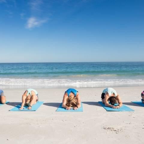 Yoga Class on Costa Rica Beach